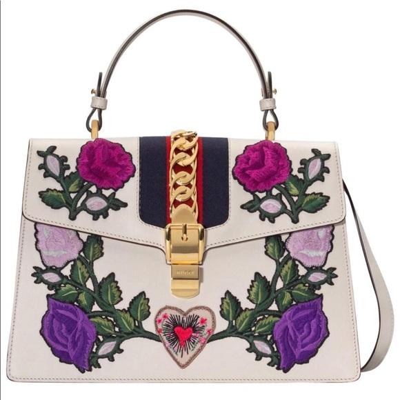 Gucci Handbags - Gucci Embroidered Sylvie bag